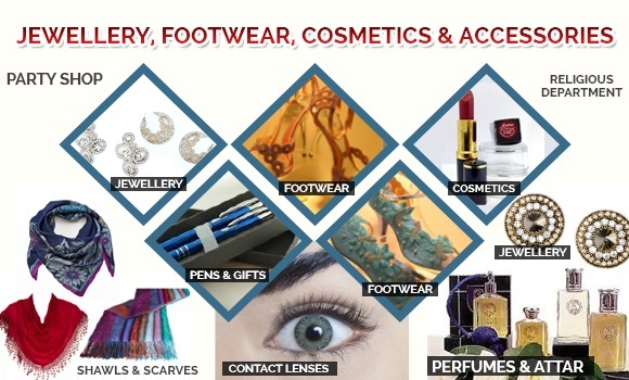 Jewellery, Footwear, Cosmetics & Accessories