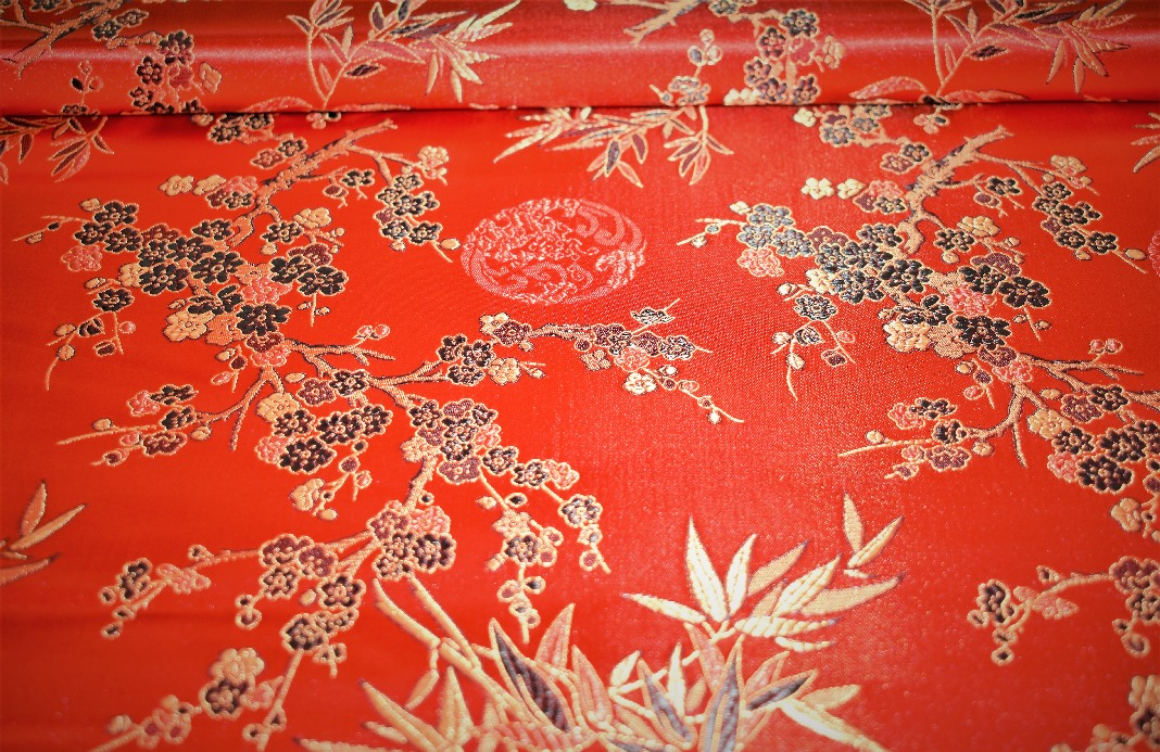 Embroidered Chinese Brocade