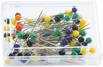 Plastic Colour Headed Pins