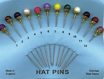 10mm Coloured Hat Pins