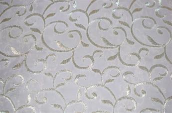 Organza Fabric with Embroidery - 4 Colours