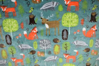 Forest Animals Cuddle Fleece