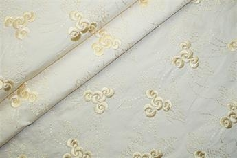 Embroidered Silk Dupion