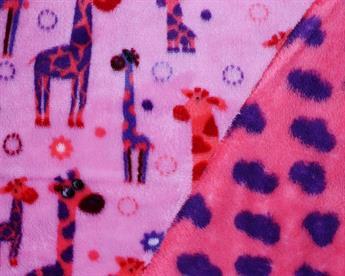 Reversible Giraffe and Cloud Cuddle Fleece