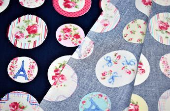Paris Blossom Print Cotton