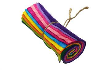 """Felt mini rolls - 6"""" wool mix Decracraft felt rolls"""