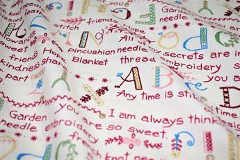Alphabet Print Cotton