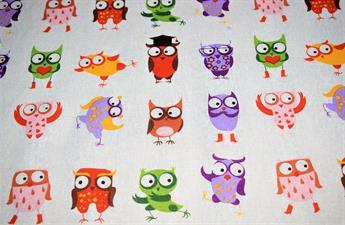 Posing Owls Printed Canvas