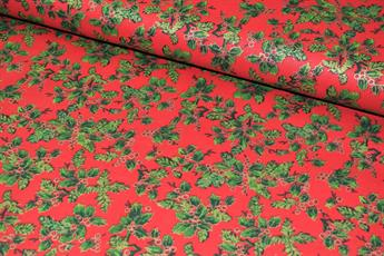 100% Cotton Vintage Holly Flower