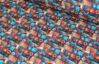 100% Cotton Halloween Tiles
