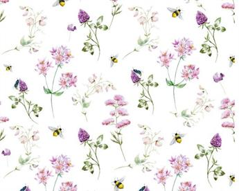 Little Johnny - Floral Bees Cotton