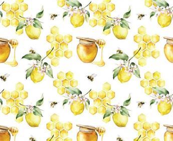 Little Johnny - Honeycomb Lemons Cotton