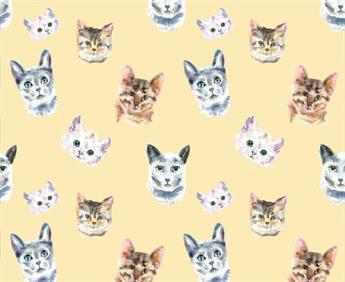 Little Johnny - Watercolour Cats Cotton