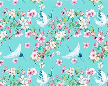 Little Johnny - Floral Cranes