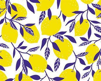 Little Johnny - Blue Leaf Lemons Digital Cotton