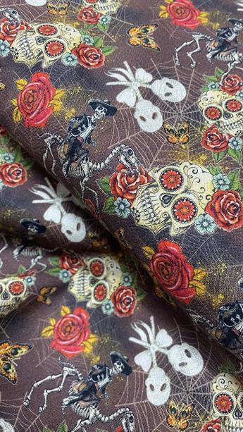 Halloween Floral Calaca Skulls