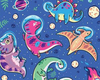 Little Johnny - Dino Space Cotton