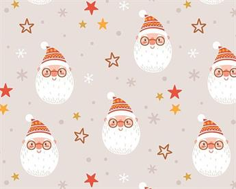 Little Johnny - Merry Santa Face Digital Cotton