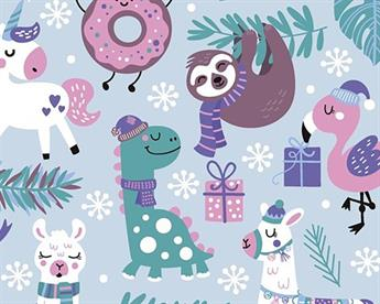 Little Johnny - Sloths Xmas Party Digital Cotton