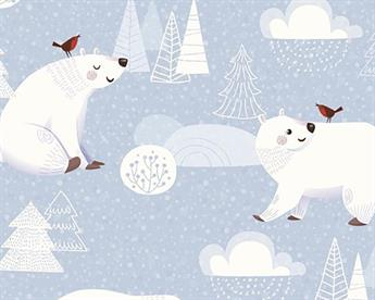 Little Johnny - The Polar Bear and The Robin Digital Cotton