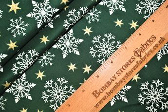 Christmas Glitter Snowflake Star Cotton