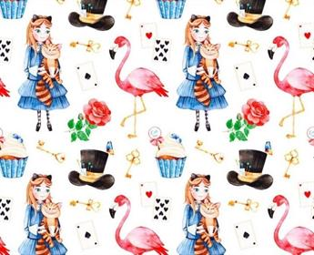Little Johnny - Wonderland Flamingo Cotton