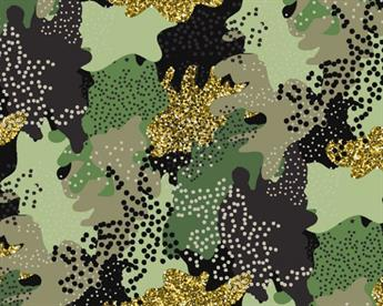 Little Johnny - Glitter Camouflage Cotton