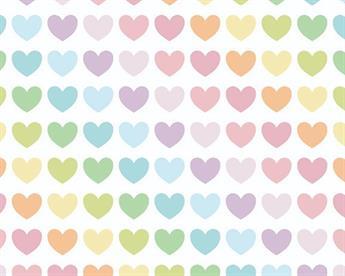 Rainbow Hearts Polycotton