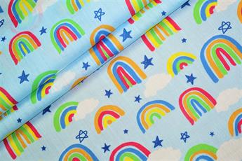 Rainbow Drawing Polycotton