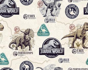 Little Johnny - Jurassic World Badge Cotton