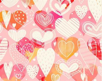 Little Johnny - Doodle Heart Digital Cotton