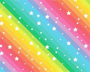 Little Johnny - Rainbow Stars Cotton