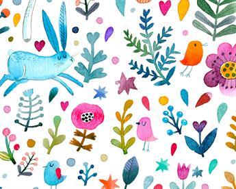 Little Johnny - Forest Rabbit Digital Cotton