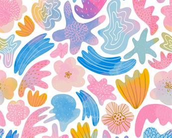 Little Johnny - Watercolour Shells Cotton