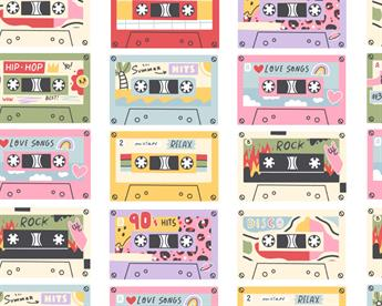 Little Johnny - Retro Cassette Tapes Cotton
