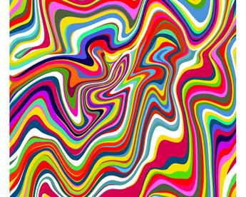 Little Johnny - Psychedelic Stripes Cotton