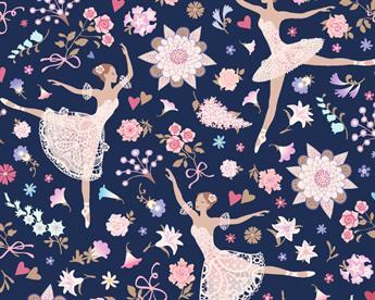 Little Johnny - Floral Ballerinas Cotton