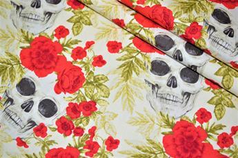 Printed Skull & Rose
