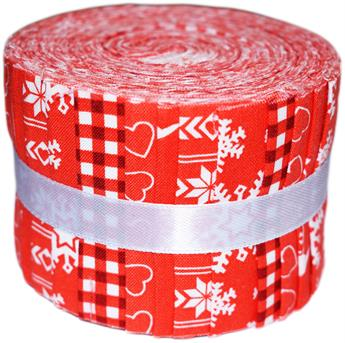 NORDIC CHRISTMAS RED- MINI JELLY ROLL