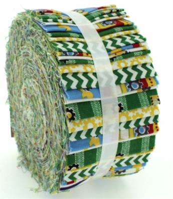 CONSTRUCTION GREEN LARGE JELLY ROLL