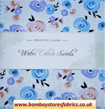 WATER COLOUR SWIRLS CHARM PACK
