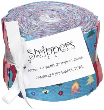 CAMPING TEAL - SMALL JELLY ROLL