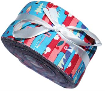 CAMPING TEAL - LARGE JELLY ROLL