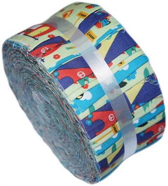 CAMPING GREEN - LARGE JELLY ROLL