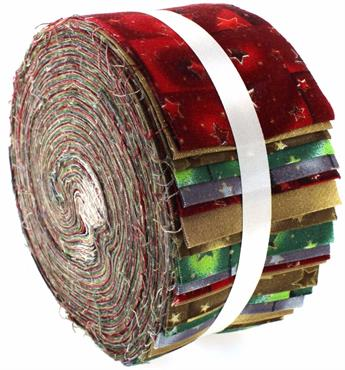 CHRISTMAS STARS LARGE JELLY ROLL