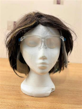 Face Protective Shield Visor With Glasses